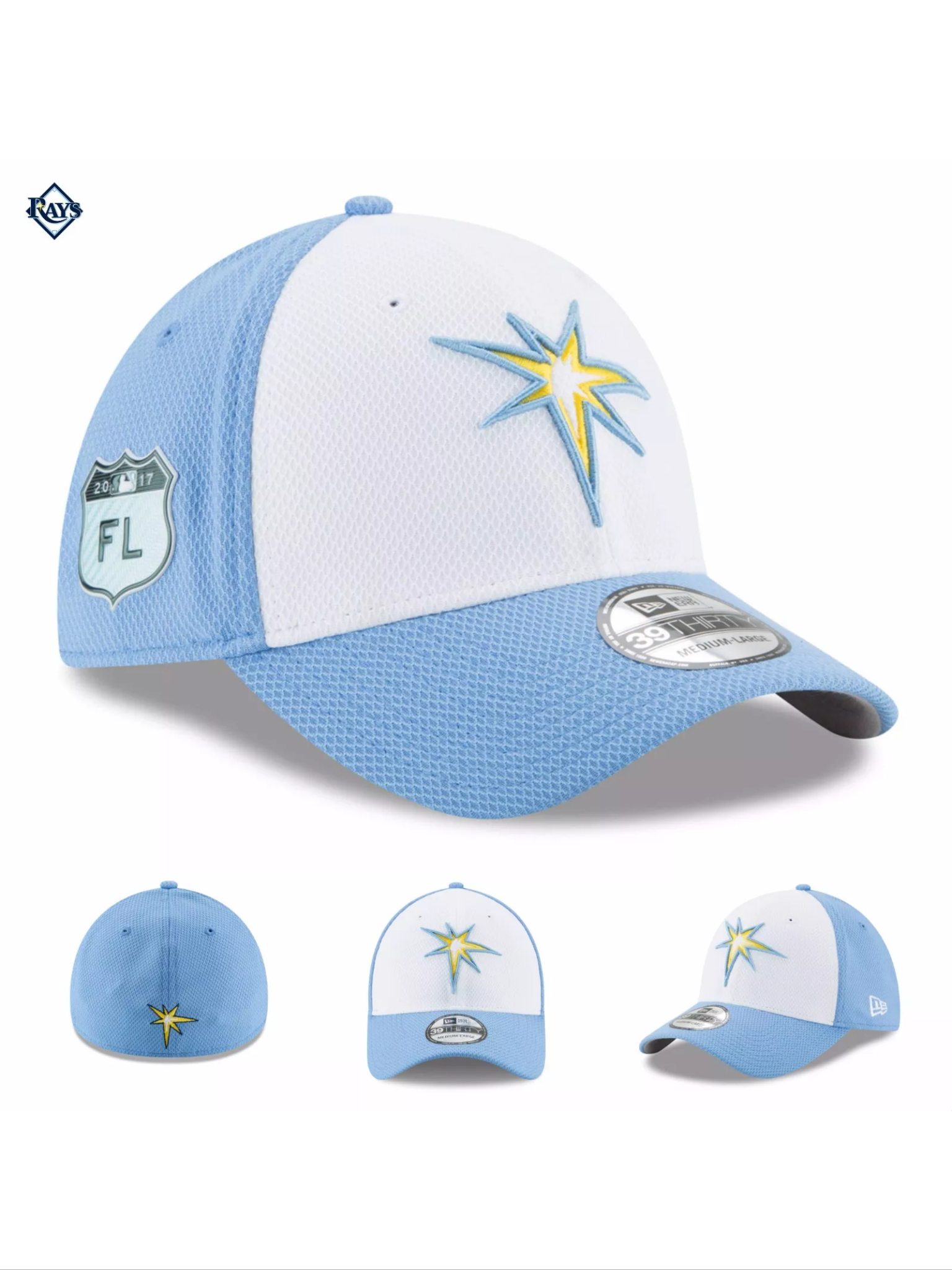 separation shoes 97c75 7c3c5 Men s Tampa Bay Rays New Era Light Blue 2017 Spring Training Diamond Era  Low Profile 59FIFTY Fitted Hat