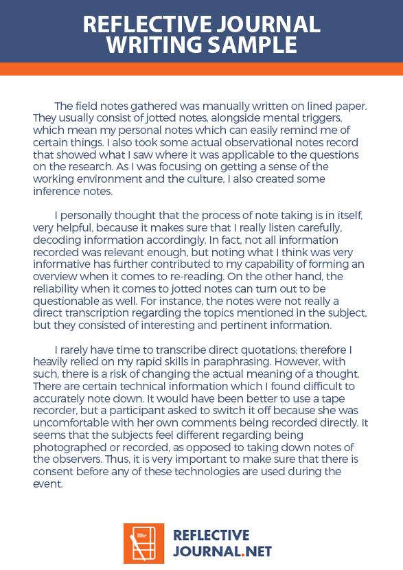 sample nursing student reflective journal
