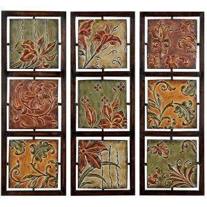 Tuscan Fleur De Lis Hanging Metal Wall Art Panels For The Home