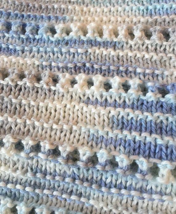 Cuddly Soft Baby Blanket Knit Pattern Easy Knitting Pattern