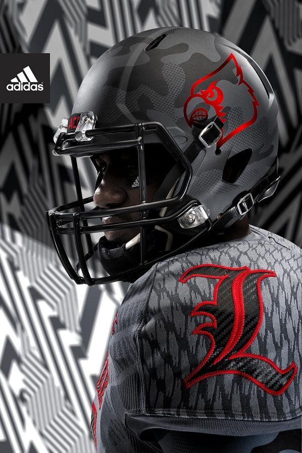 Adidas Football Us On Twitter Louisville Football College Football Helmets Cool Football Helmets