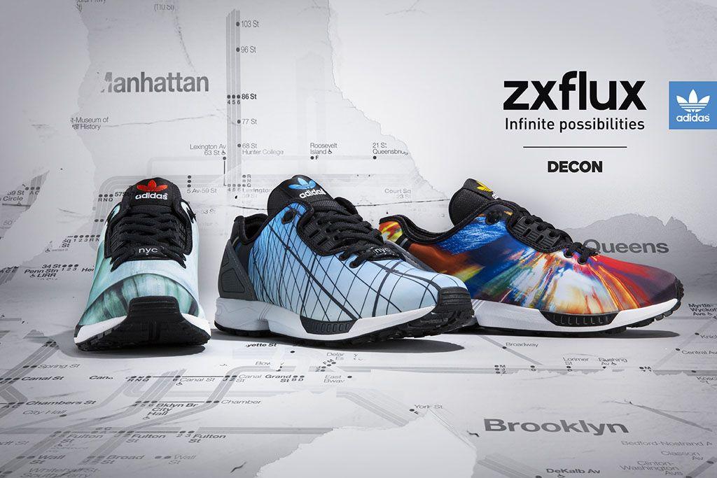 adidas Originals ZX Flux Winter Grey / Turquoise Style Engine