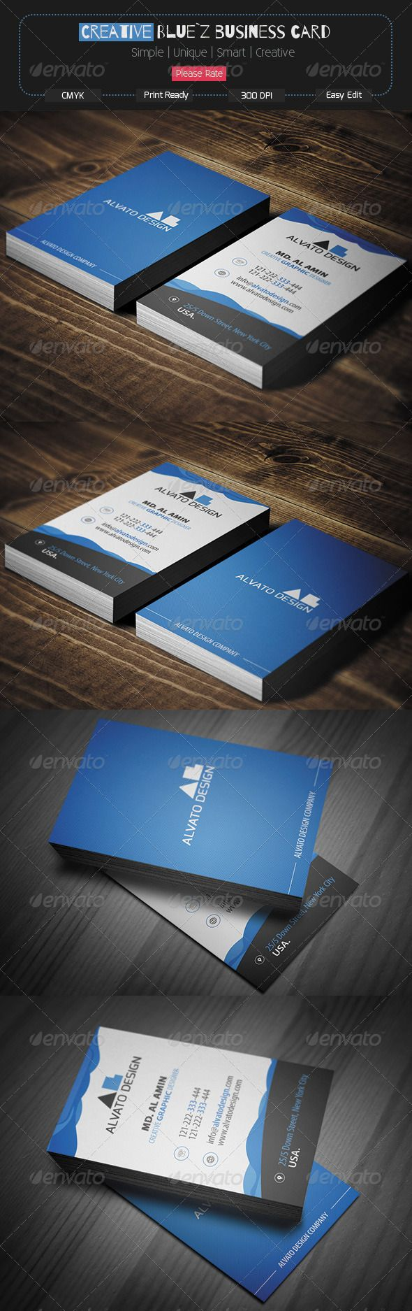 Creative Blue Z Business Card Business Cards Creative Templates Business Card Design Creative Business Cards Creative