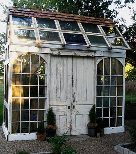 20 Ideas to Recycle Old Wood Windows for Green Building with