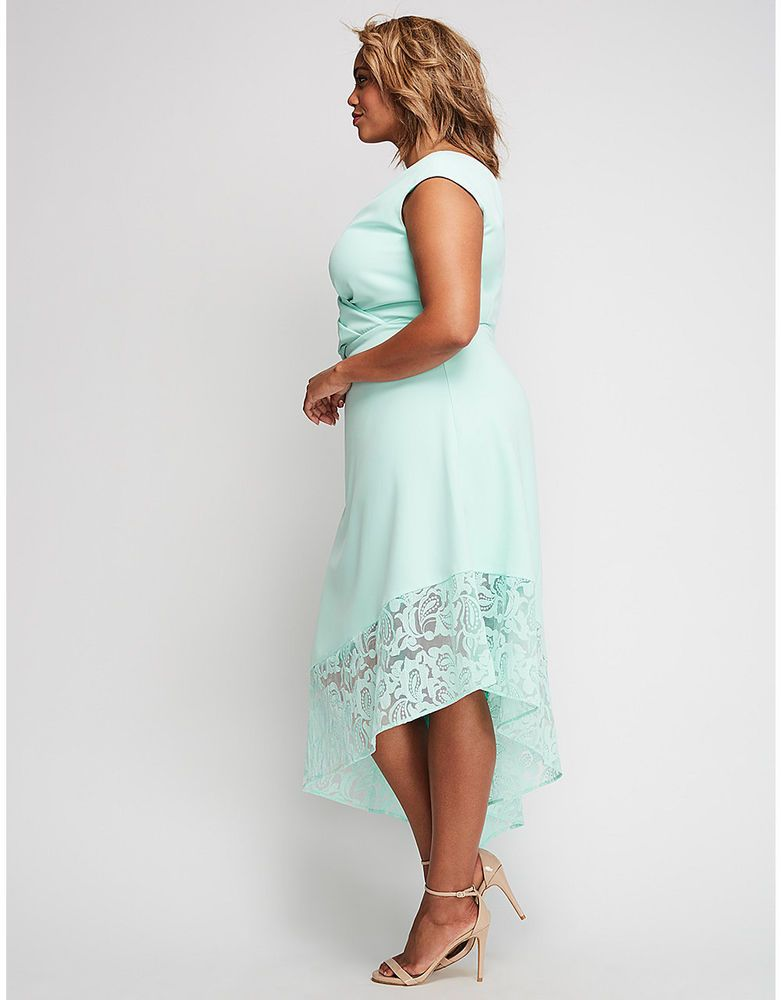 cc13ab4cac92b8 Lane Bryant X Christian Siriano One Shoulder asymmetrical blue dress 28 w   KYONNA  Formal