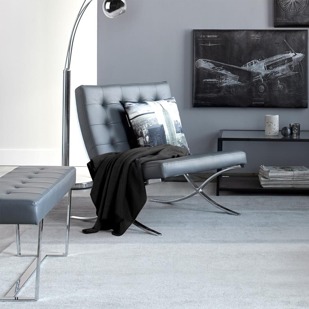 Superb Barcelona Lounge Chair With Metal Legs Apartment Wishlist Caraccident5 Cool Chair Designs And Ideas Caraccident5Info