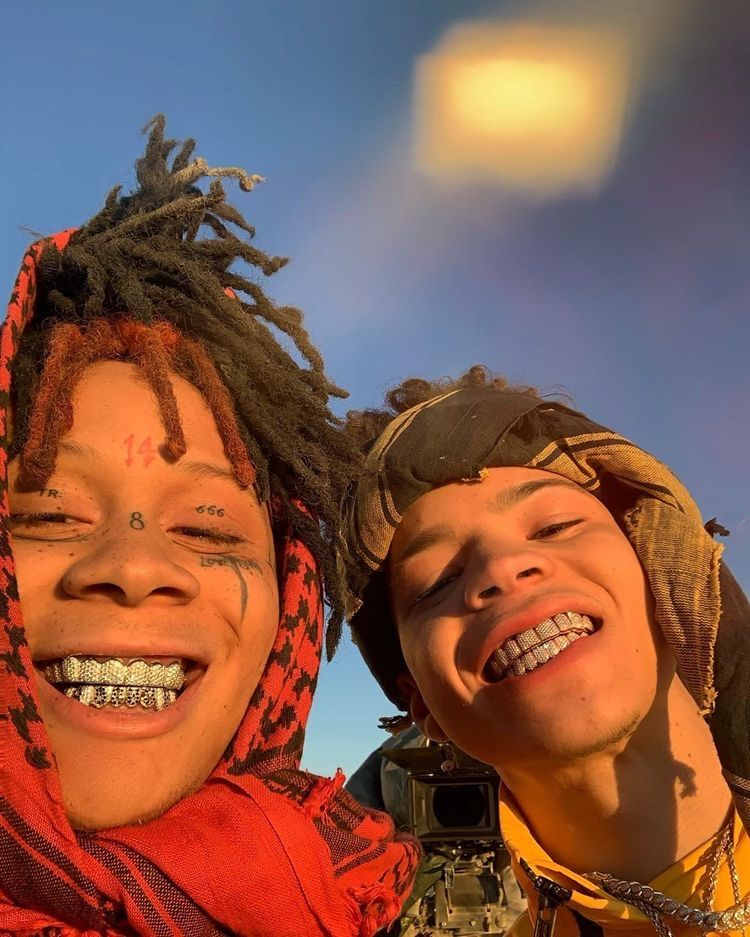 Rappers, wallpaper, Trippie redd and lil mosey face tats