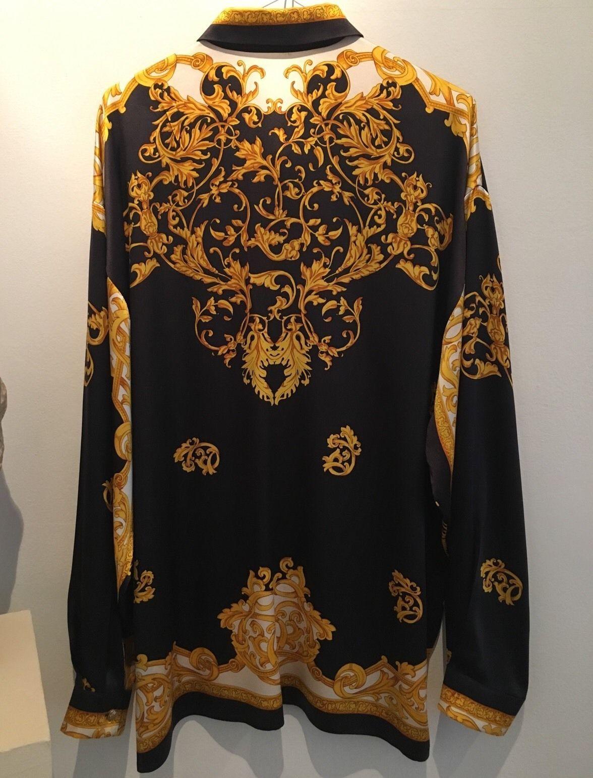 953db3f3efcbe3 RARE Gianni Versace Vintage Silk Shirt Size Large Excellent Condition | eBay