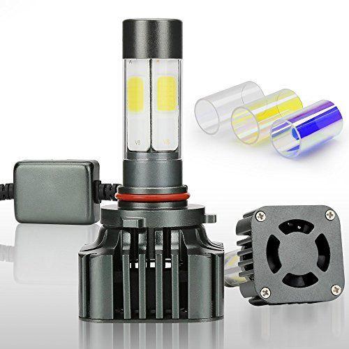 Zdatt 12000LM 9006 LED HeadLight Bulbs Conversion KitAmber3000KWhite6000KBlue8000K