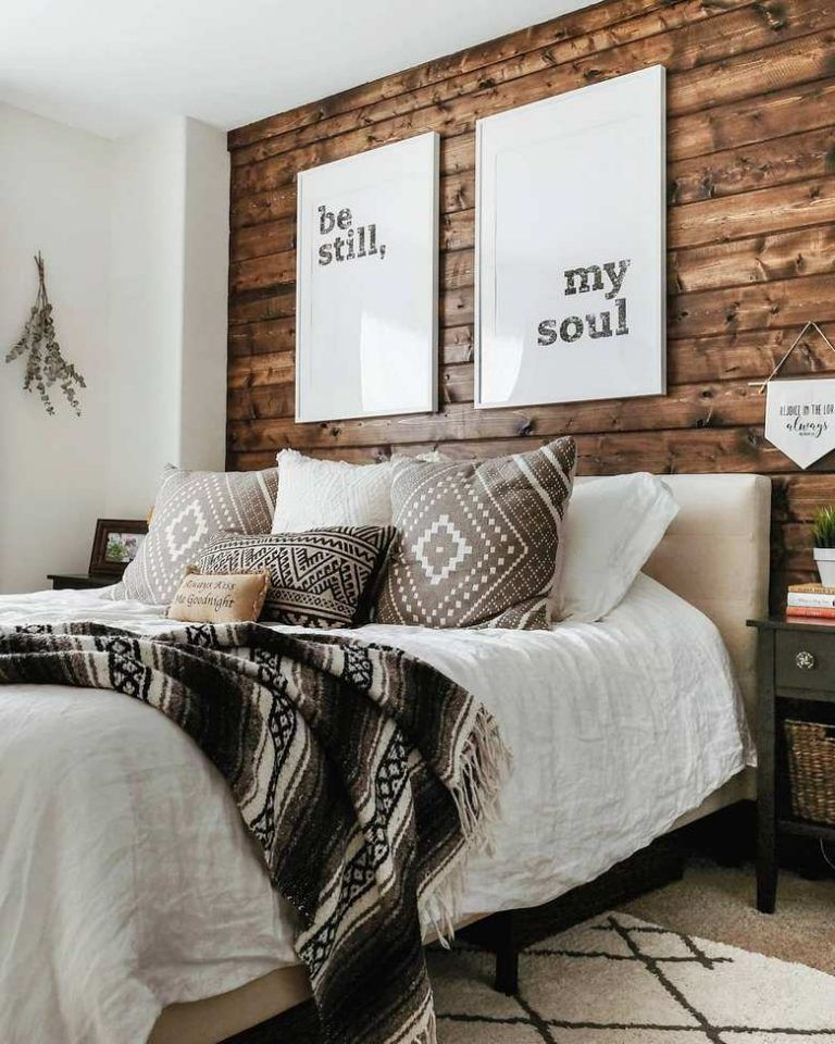 65 Charming Rustic Bedroom Ideas and Designs #modernrusticbedroom