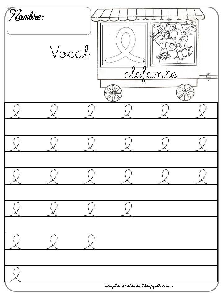 Caligrafía Con La Vocal E Grafomotricidad