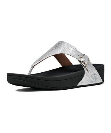 77bc61e2ca6bec This Silver The Skinny Leather Sandal - Women is perfect!   zulilyfinds. affiliate