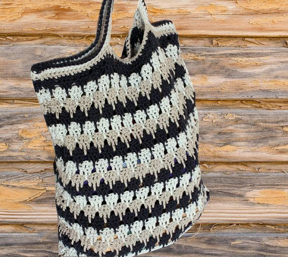 Crochet Bag Pattern Shades Of Color Cotton Crocheted Bag Pattern