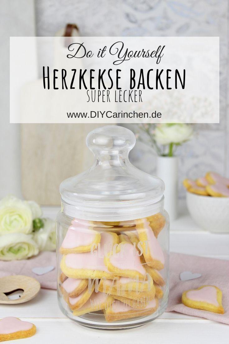 Rezept - super leckere Herzkekse backen - wundervolle Geschenkidee