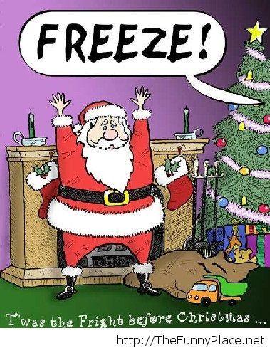 Funny Santa Claus Cartoons Funny Cartoon Image With Santa Claus