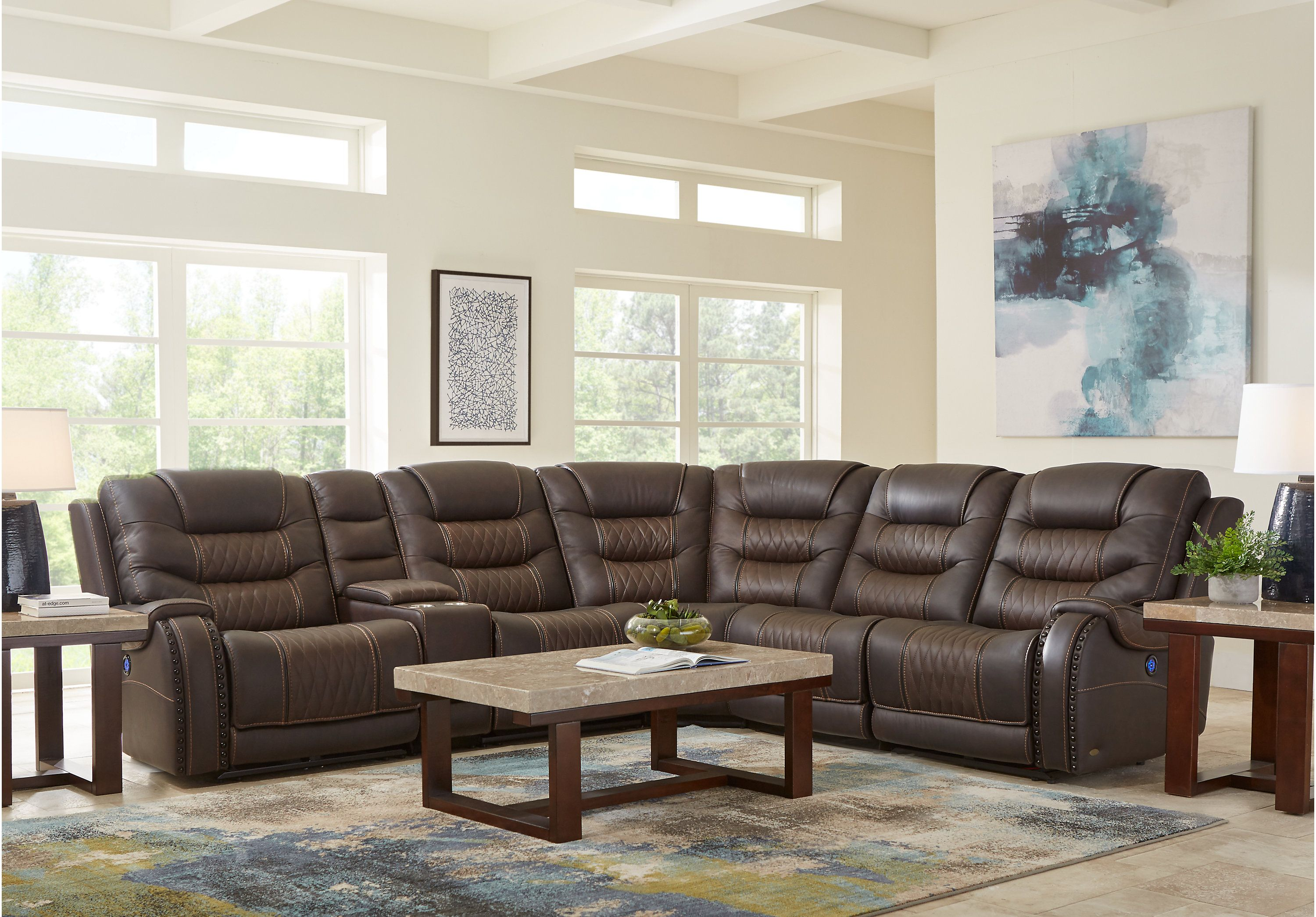 Barlow White Leather Sofa And Loveseat Set Eric Church Highway To Home Headliner Brown Leather 6 Pc Dual