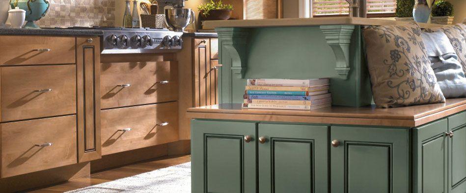 Base cabinet color (wood, not green) | Semi custom kitchen ...