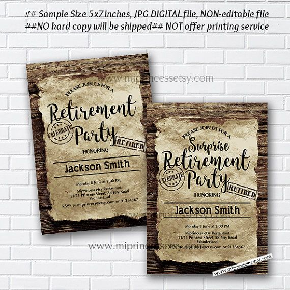 Retirement Invitations Retirement Partyretirement By Miprincess