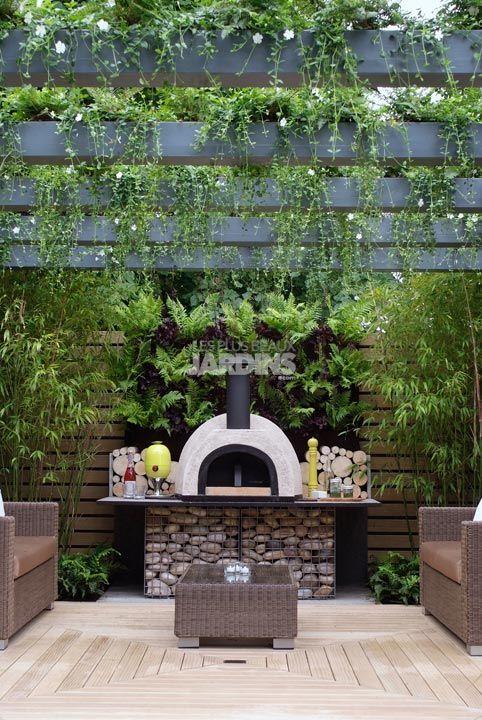 Douceur exotique tout petit jardin ambiance tropicale les plus beaux jardins le mag - Decoration jardin avec galets pau ...