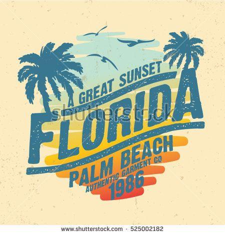 Tropical Sunset Surf And Beach Vintage Beach Print Tee Graphic Design Sunset Surf Retro Surf Surf Design