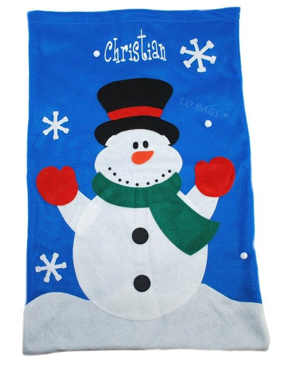 1335574ea2f Snowman Felt Sack with Free Embroidery by MonogramExpress on Etsy Christmas  Bags