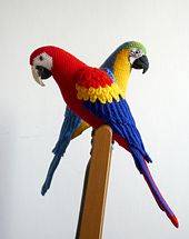 Amigurumi Blue-and-Yellow Macaw/Parrot