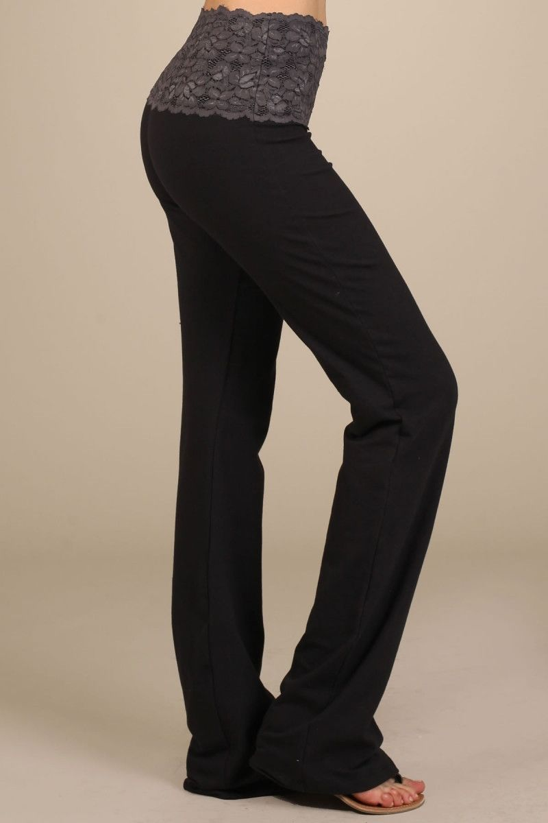 Yoga Pants With Lace Band | Threads | Pinterest | Pants, Casual ...