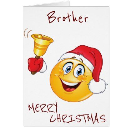 Brother Ready To Celebrate Emoji Style Holiday Card Zazzle Com Teacher Christmas Merry Christmas Card Christmas Holiday Cards