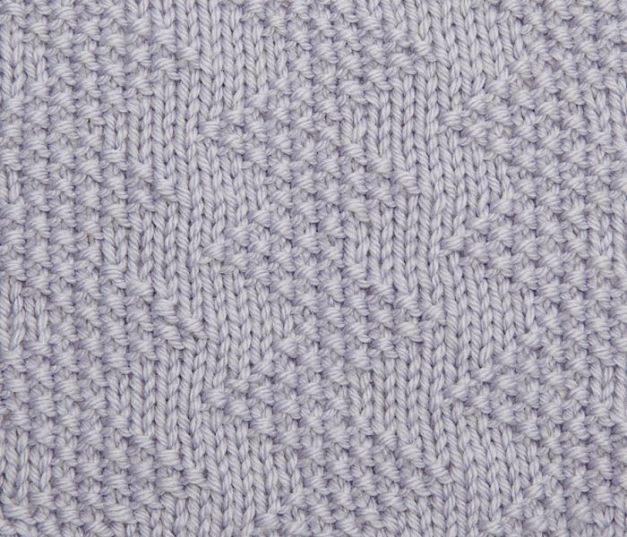 Try knitting this moss stitch zig-zag pattern: http://www.themakingspot.com/k...