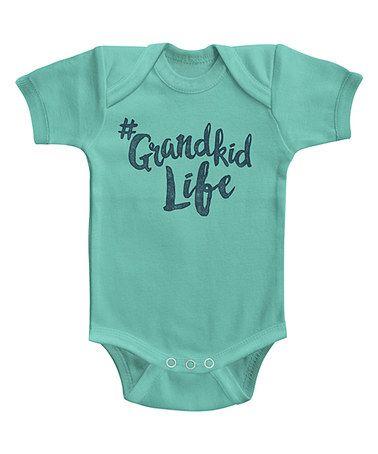 Caribbean Blue '#Grandkid Life' Bodysuit - Infant #zulily #zulilyfinds