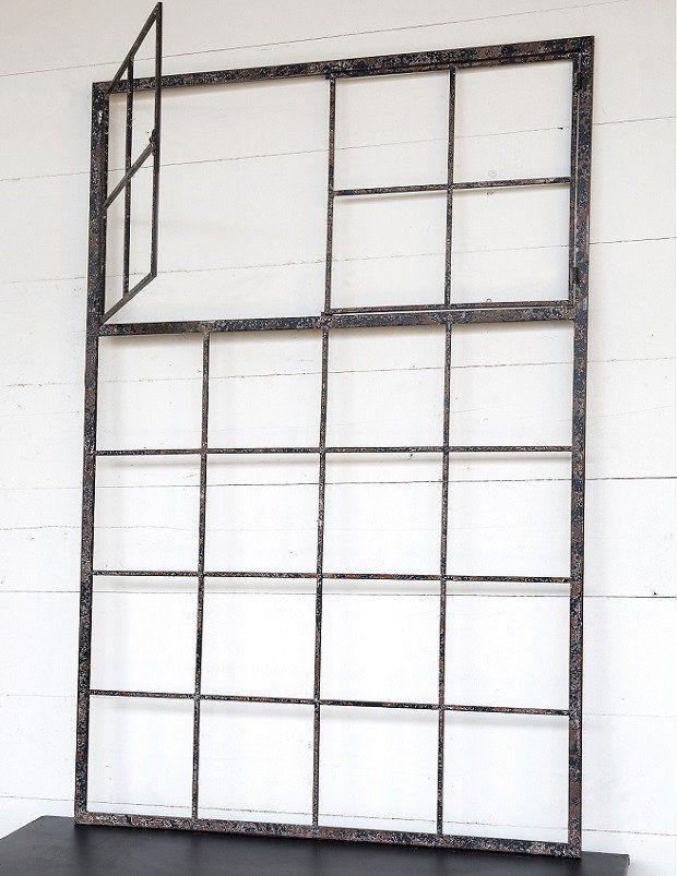 Large Rustic Farmhouse Metal Window Frame Metal Window Frames Frame Decor Window Frame Decor