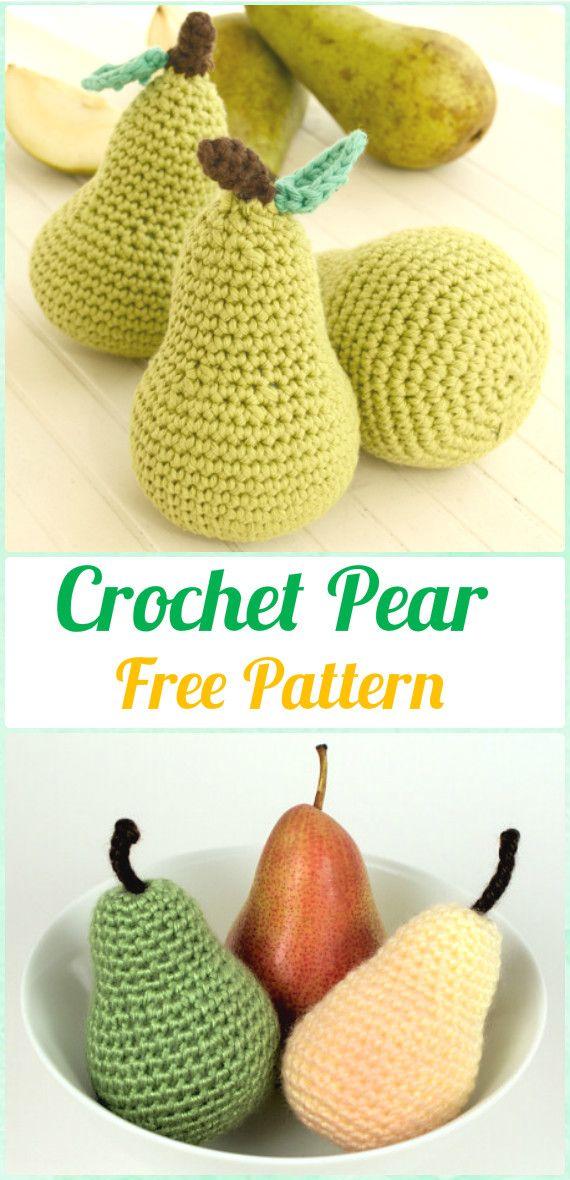 Crochet Amigurumi patrón libre de la pera - Crochet Amigurumi Frutas ...