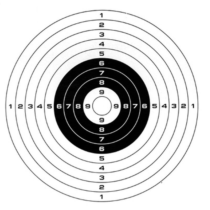Air Shot Paper Targets 5.5 By 5.5 100 Pack Part # Fits Gamo Cone Traps