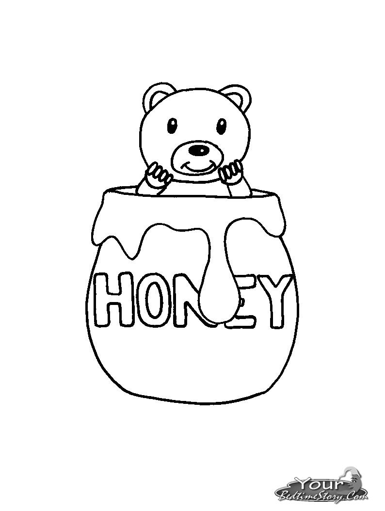 Honey Pot Coloring Page