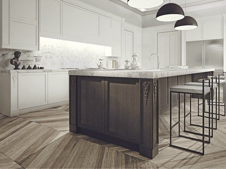 Wooden kitchen with island Aeterna Collection by L\'Origine Home ...