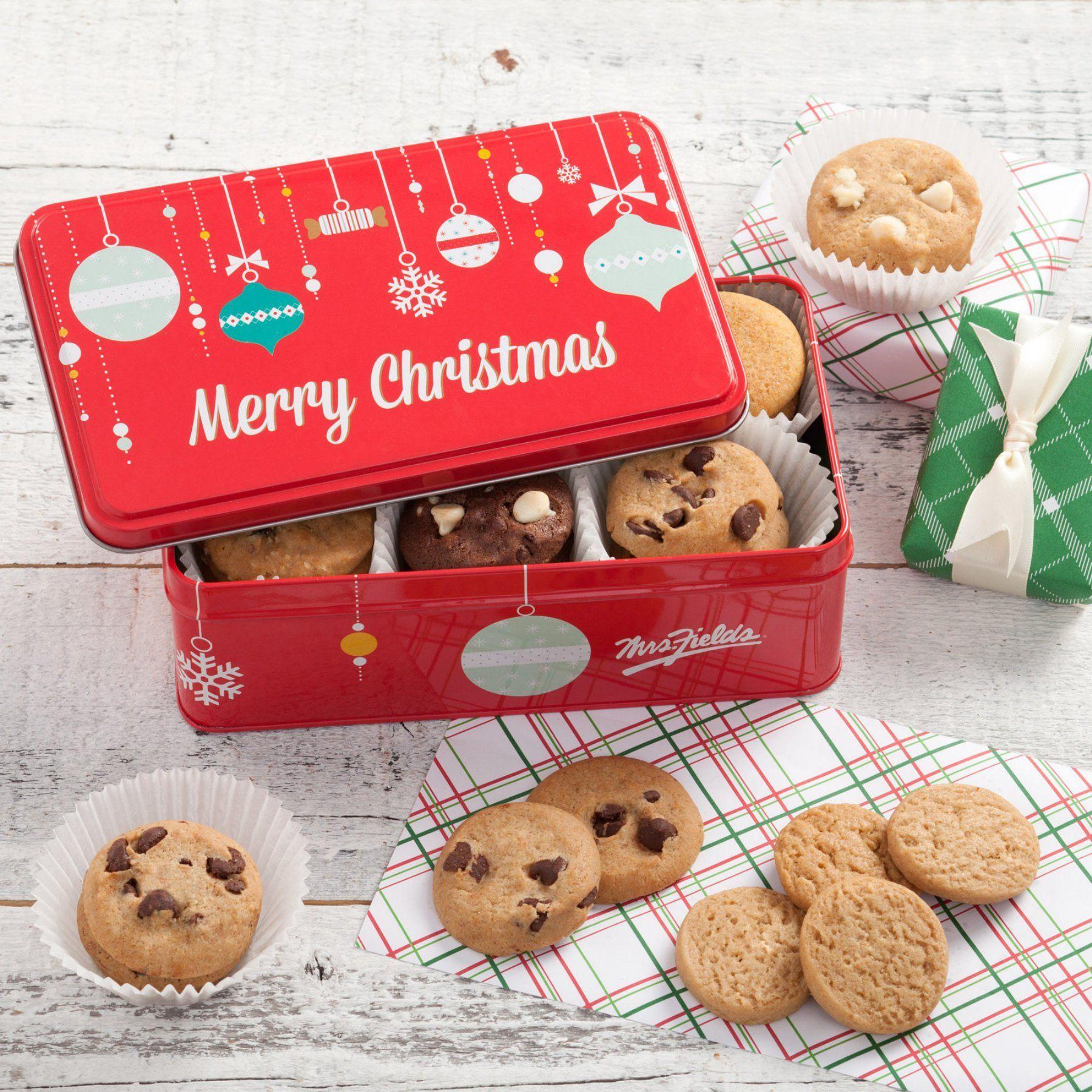 Mrs Fields Merry Christmas Nibbler Tin 15w471r