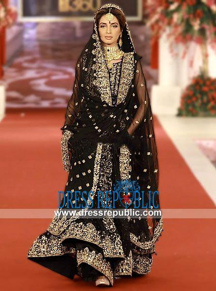 050ed0619e Black Lucida - DR11027, Black Bridal Lehanga by Pakistani Designers Ayesha  Varsey 2013, 2014 by www.dressrepublic.com