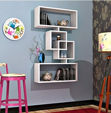 Estanterias salas de estar modernas amazon muebles pinte - Amazon estanterias bano ...