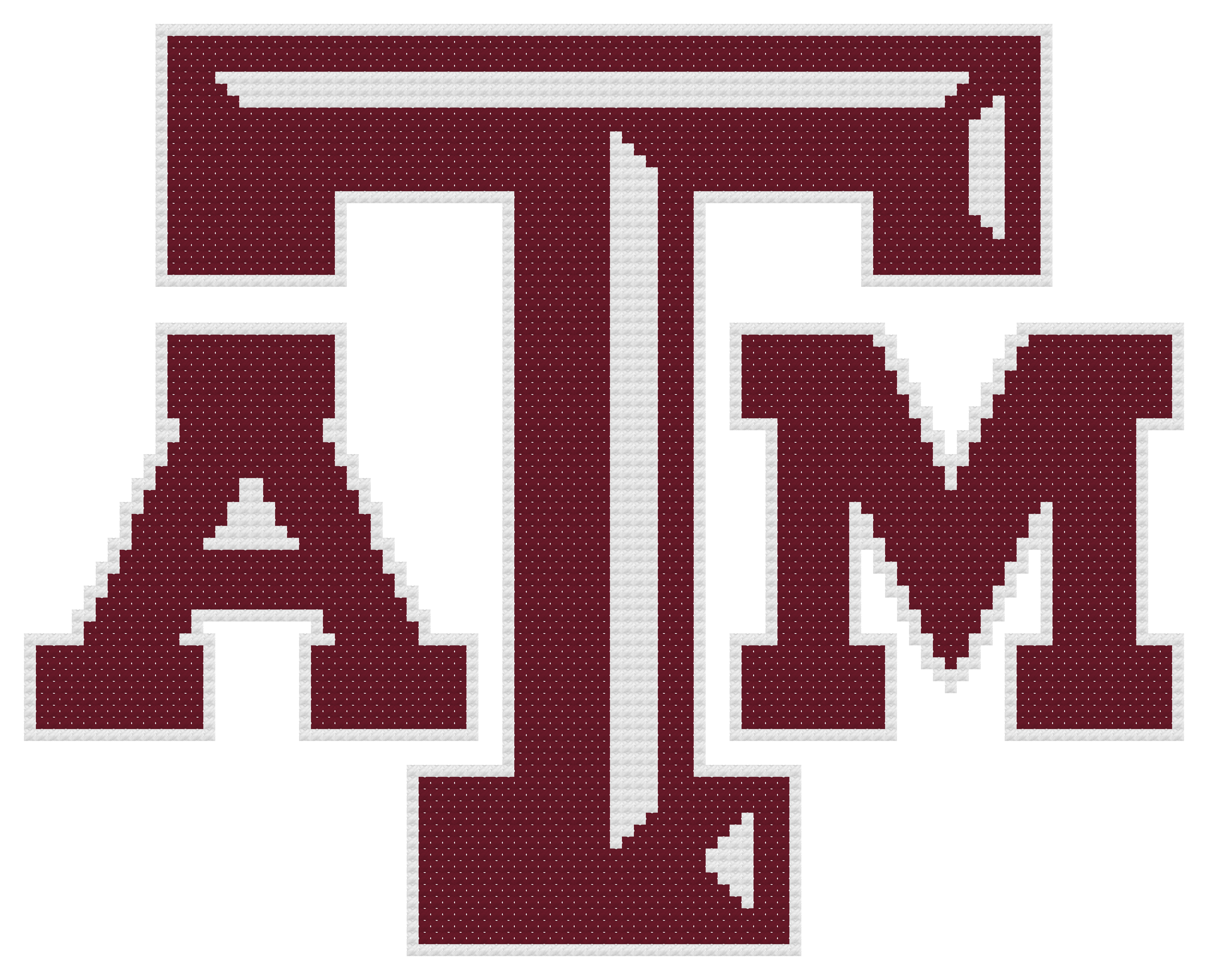 Counted Cross Stitch Pattern, Texas A&M Aggies Logo