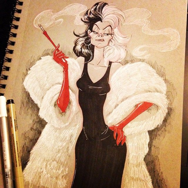 Disney 101 Dalmations Cruella DeVil (don't know how to spell that) by Brianna Garcia