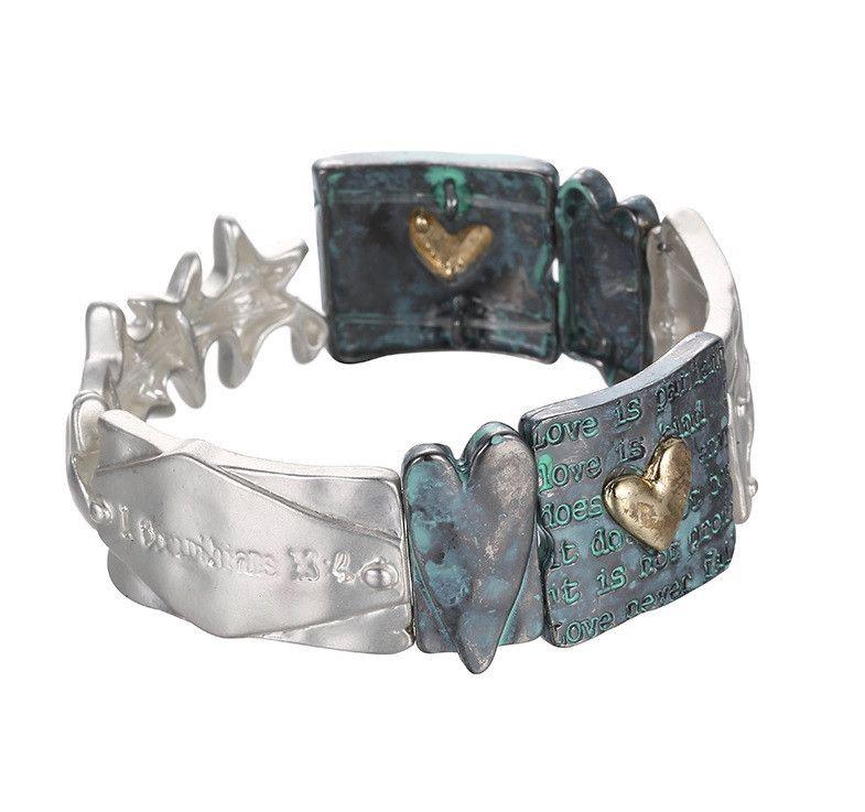 Unisex Retro Alloy Silver Bracelet