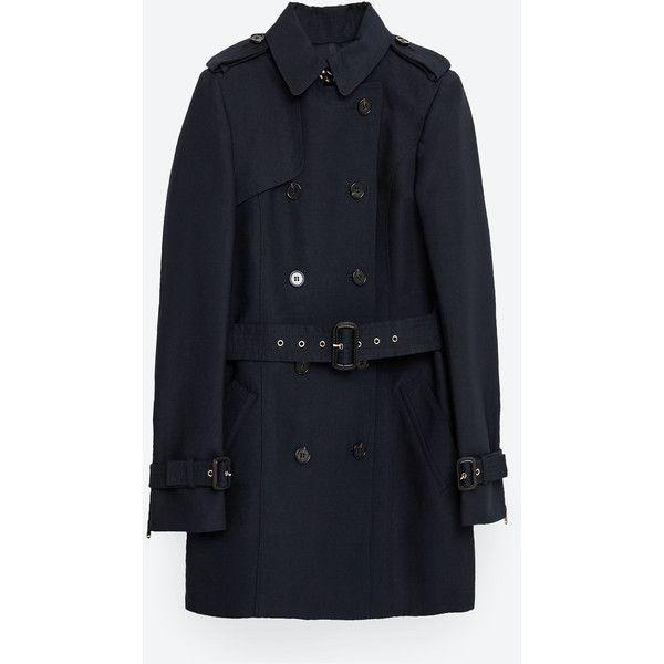 Zara Cotton Trench Coat, Trench Coat Zara Woman