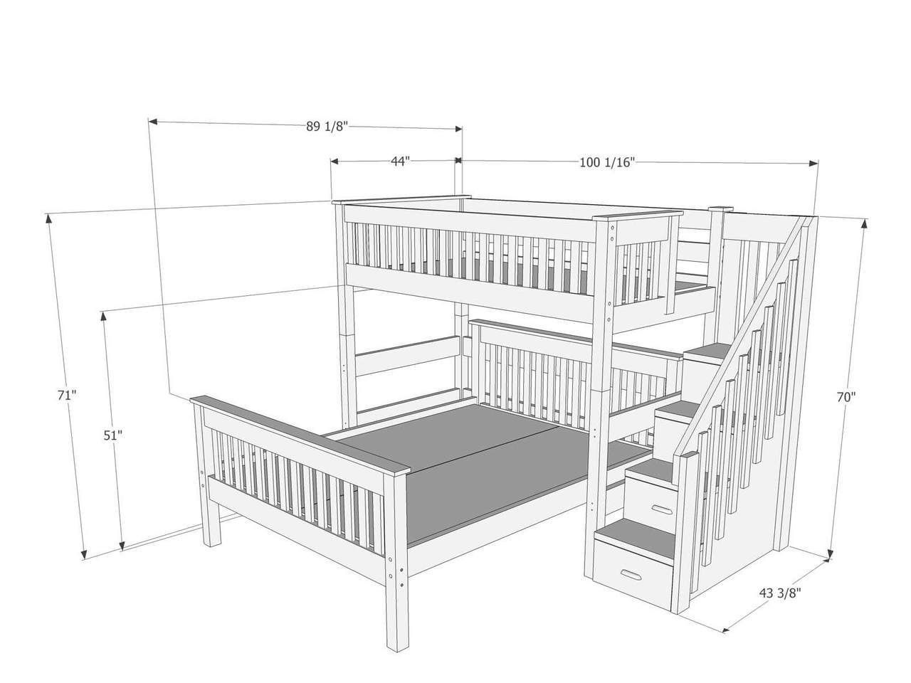 Dimensions Of Bunk Bed With Stairs L159 Bunk Beds Bunk Beds