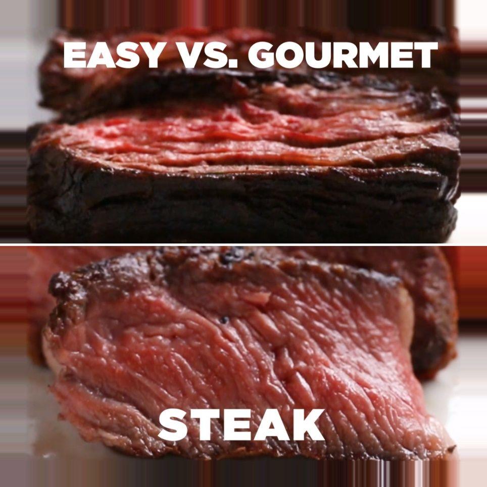 Easy Vs Gourmet Steak Recipes Easy V Gourmet Steak Steak Meat Dinner Grill Tasty Baby Names Vintage In 2020 Gourmet Steak Recipes Seared Salmon Recipes