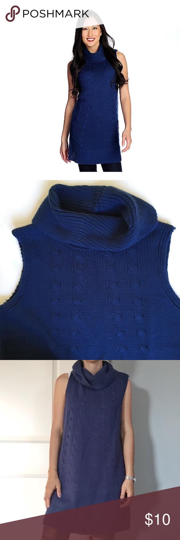 🍁Sleeveless Royal Blue Turtleneck Sweater/Dress | Royal blue ...