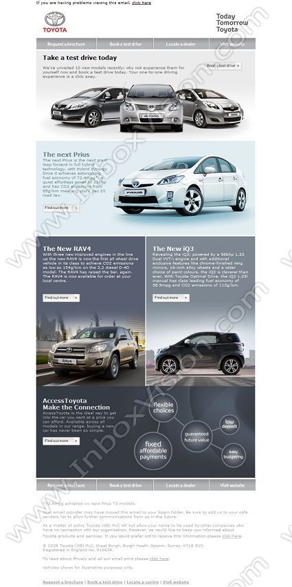company  toyota cars europe subject  are you free for a test drive  inboxvision  a global email