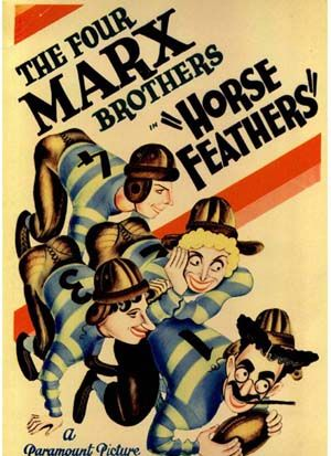 Marx Bros Horse feathers vintage movie poster print