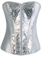Silver Shining Women Rock Girl Fashion Corset