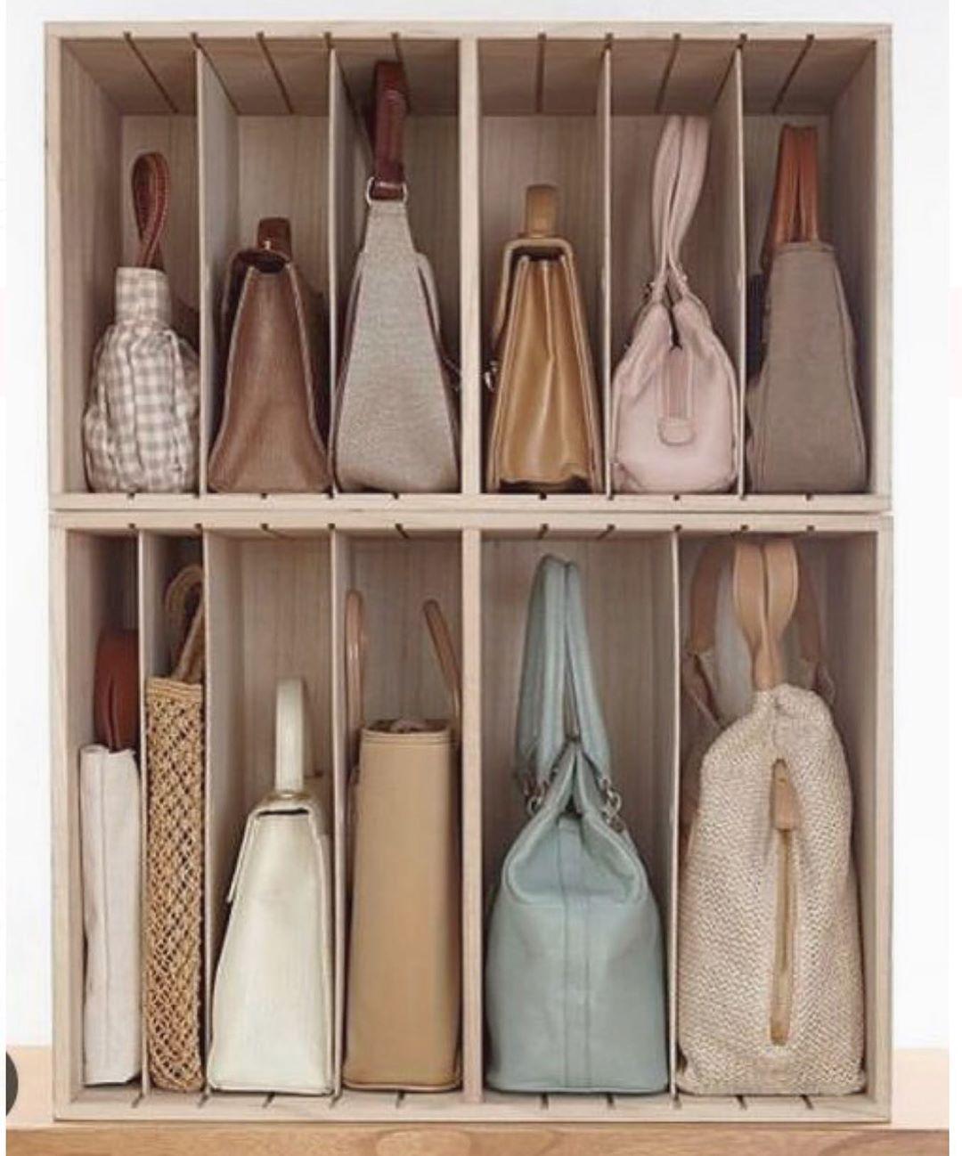 Pin By H E L L O H On C L O S E T In 2020 Handbag Storage Closet Bedroom Organization
