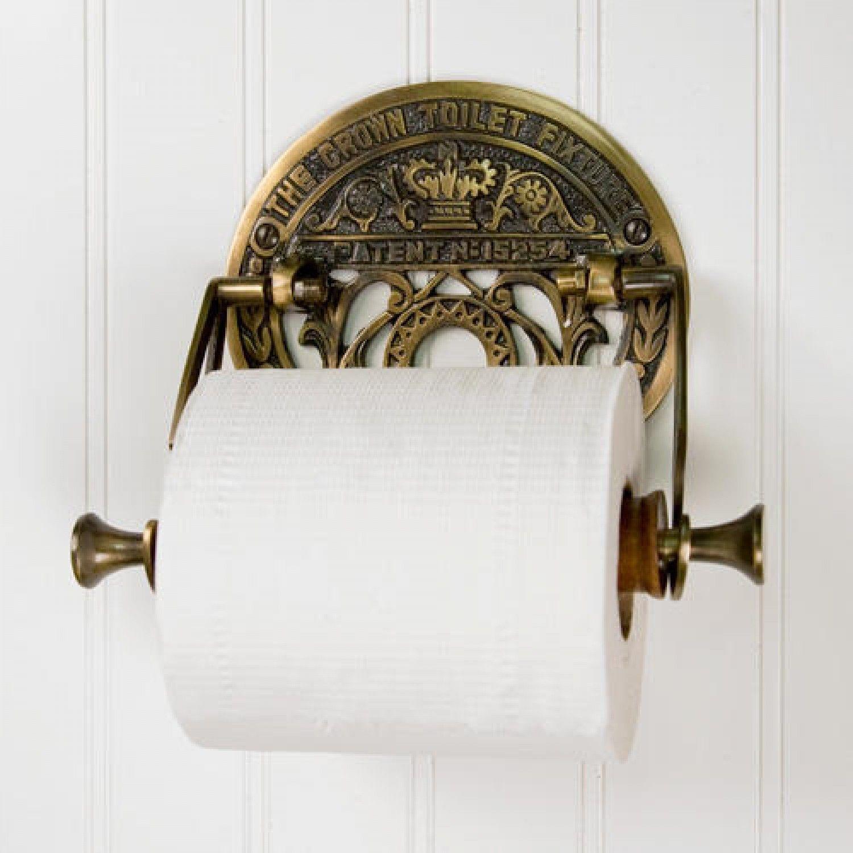Crown Toilet Fixture Solid Brass Toilet Paper Holder Brass Toilet Paper Holder Toilet Paper Holder Paper Holder